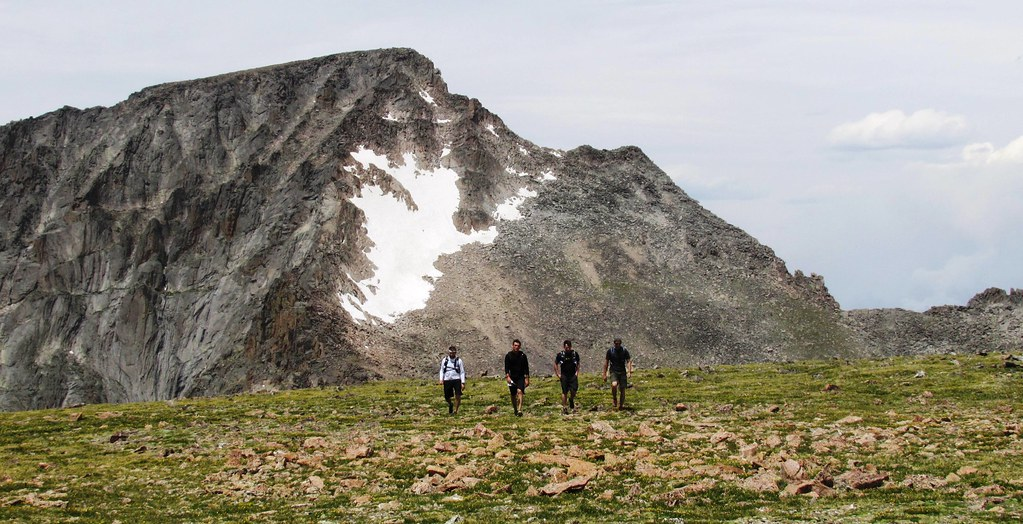 Mount Alice (13,333') - June 22, 2012. Descending Alice along the saddle with the Chief after a successful hazing of my buddies from back east. w/ Dana, Kevin, Migz, Nate, and Ray,