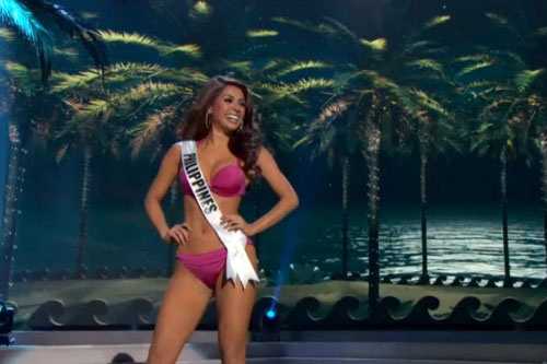mary jean lastimosa during miss universe swimsuit competit