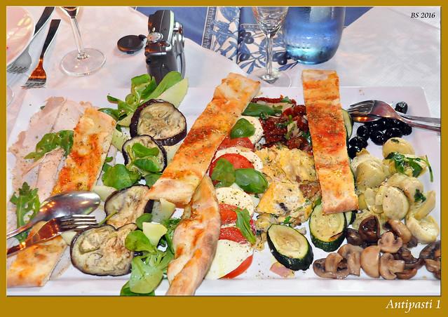 Italienische Vorspeisen Antipasti vegetarisch Foto Brigitte Stolle Mai 2016