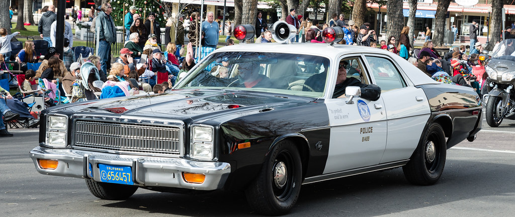 old police car in christmas parade looks like a late 70 39 s flickr. Black Bedroom Furniture Sets. Home Design Ideas