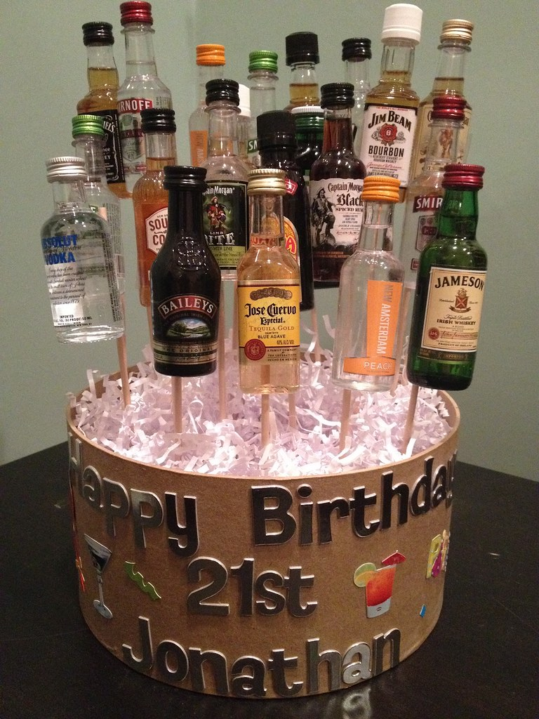 21st Birthday Cake Ideas With Alcohol Free Image Of 21st