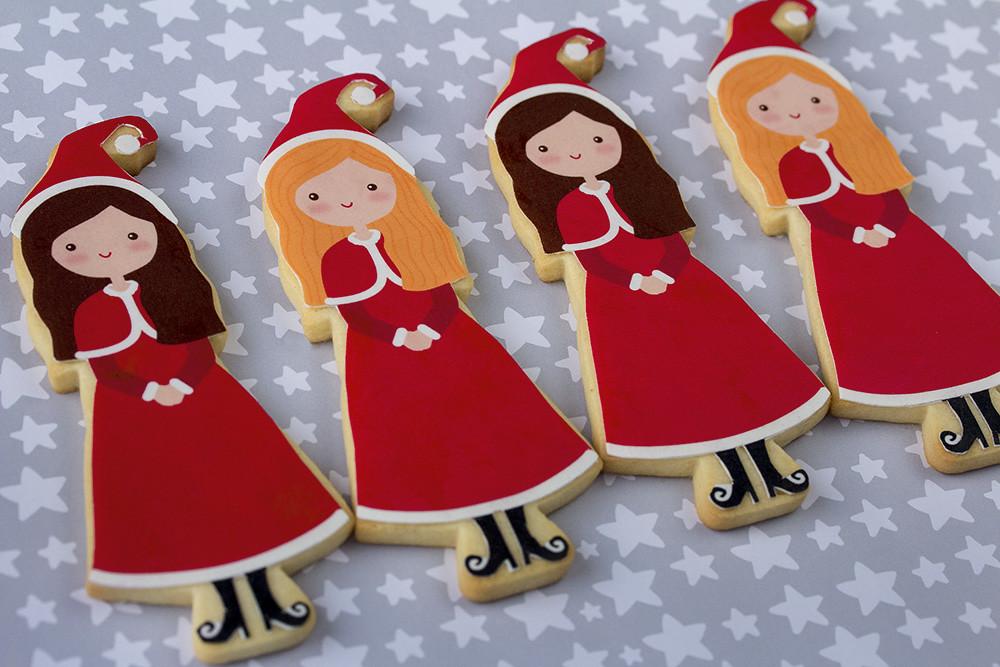 Galletas decoradas con papel de azúcar