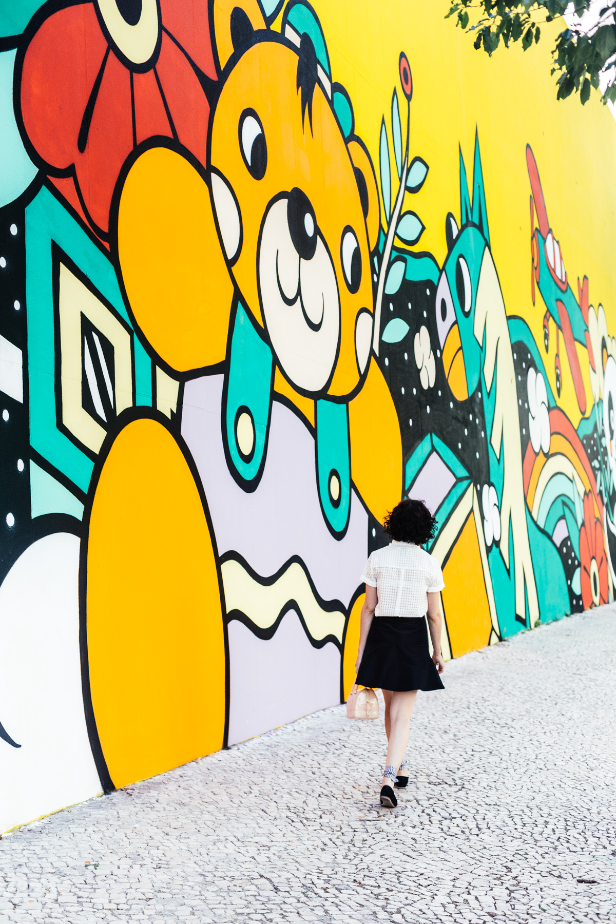 The cutest wall in Lisbon