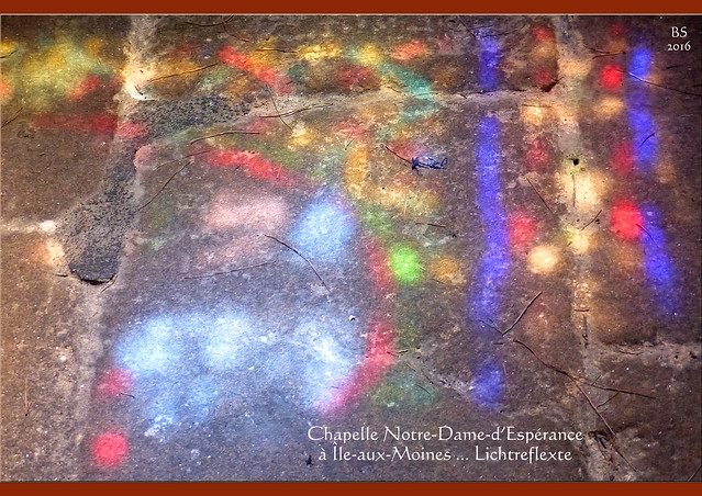 """Bretagne - Golf von Morbihan - Mönchsinsel - Chapelle - Kapelle """"Notre-Dame-d'Espérance à Île-aux-Moines"""" - Fotos und Collage: Brigitte Stolle 2016"""