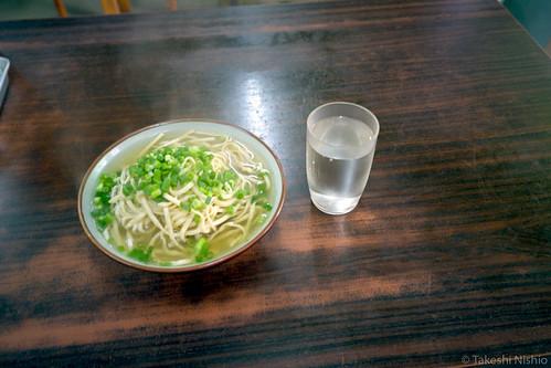 Miyako-soba noodle at Darumasoba diner