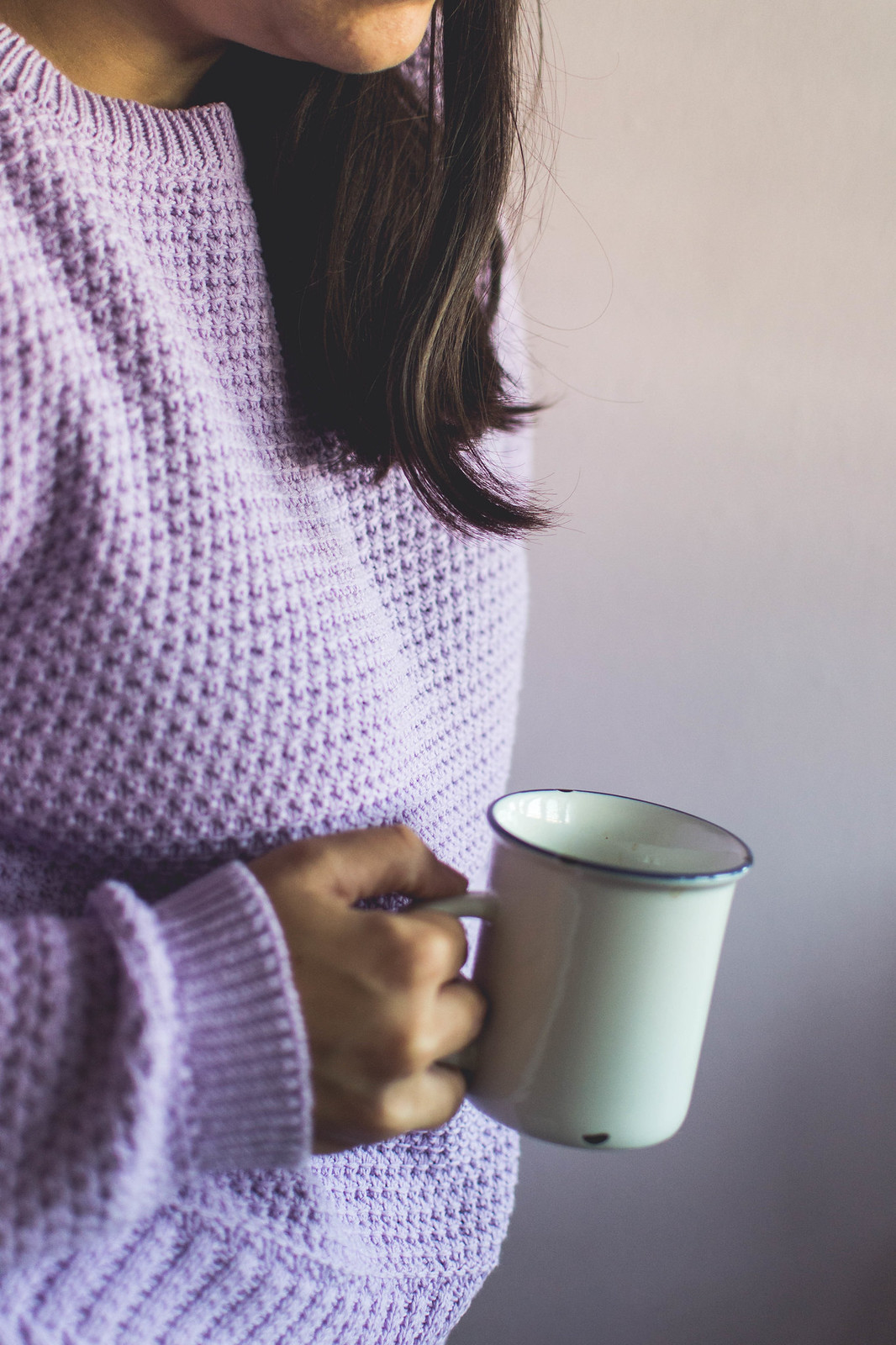Mint and Berry lilac sweater