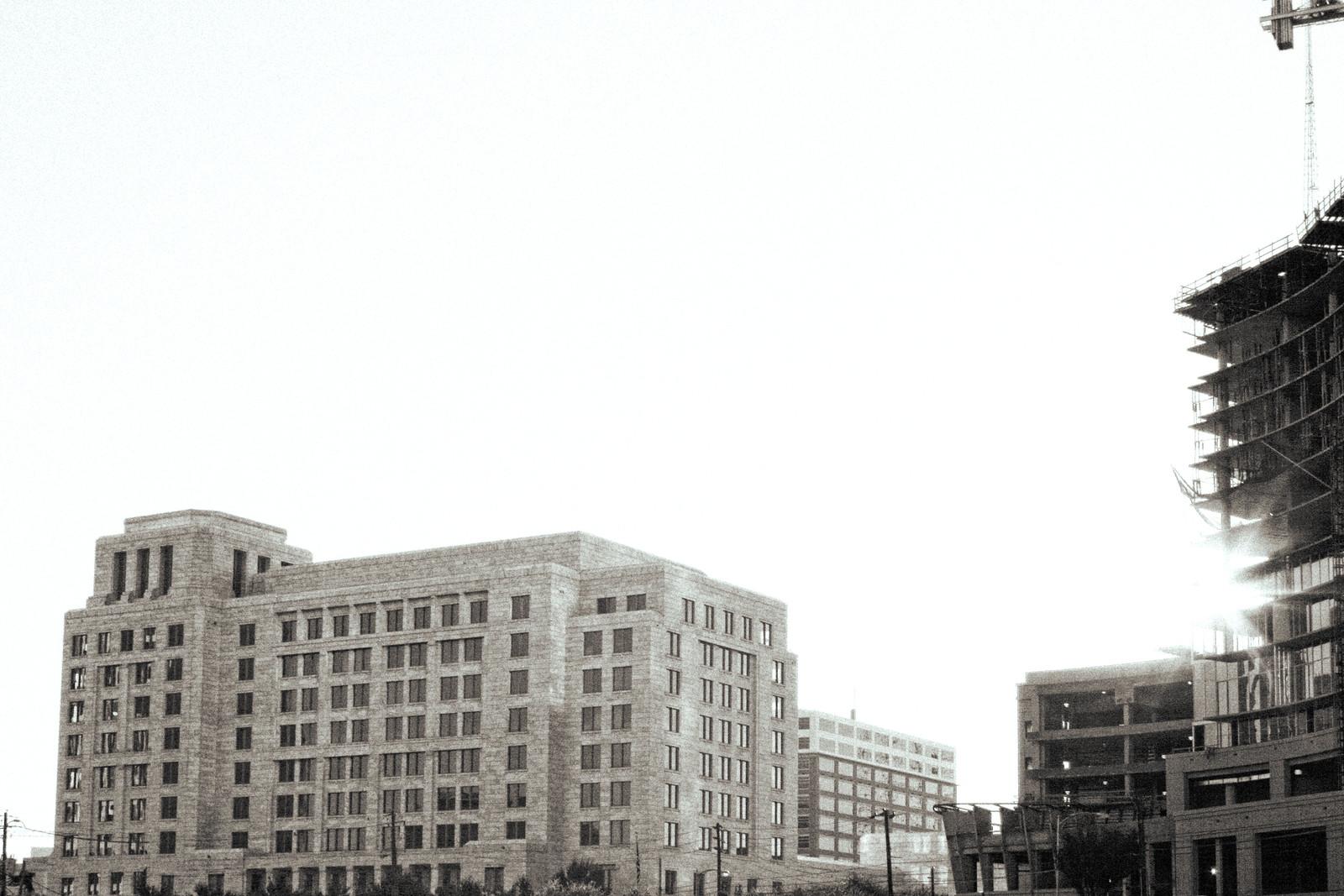 Federal Reserve Bank and Midtown construction, Midtown Atlanta, 2007