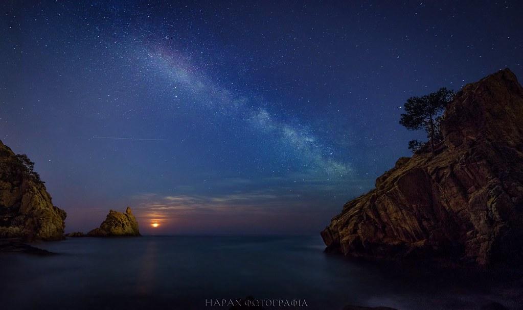 Картинки луна ночь море