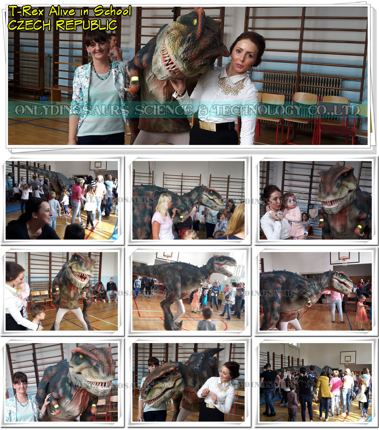 T-Rex Alive in School