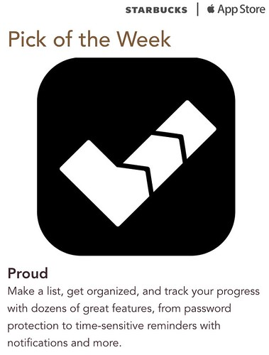 Starbucks iTunes Pick of the Week - Proud