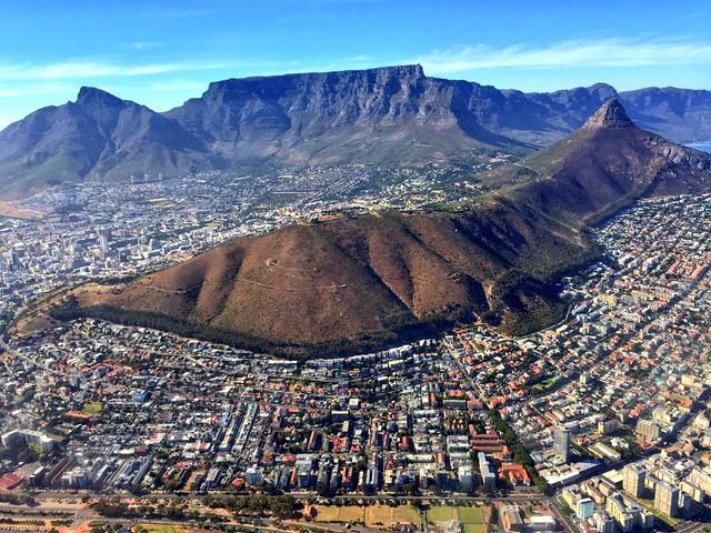 Ciudad del Cabo a vista de helicóptero