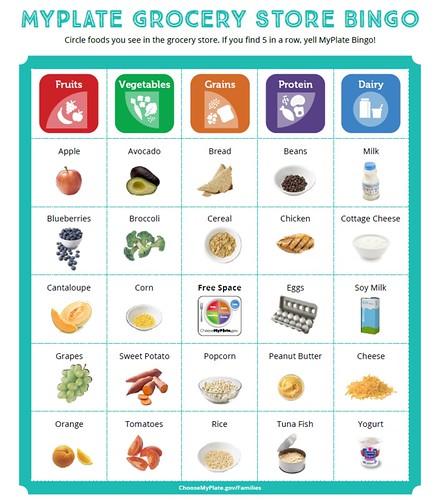MyPlate Grocery Store Bingo