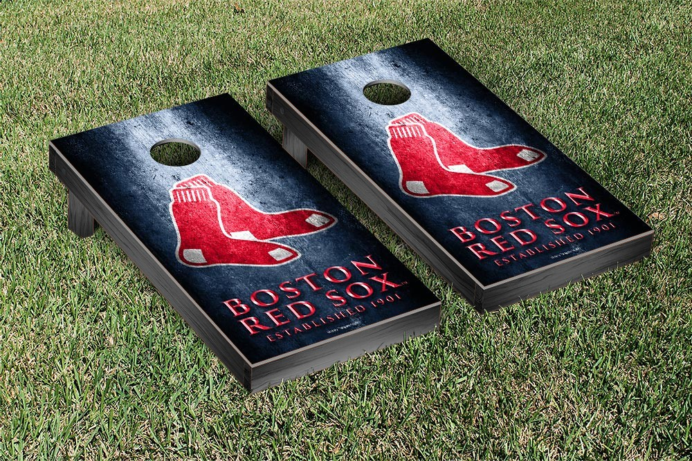Boston Red Sox Metal Version Cornhole Board