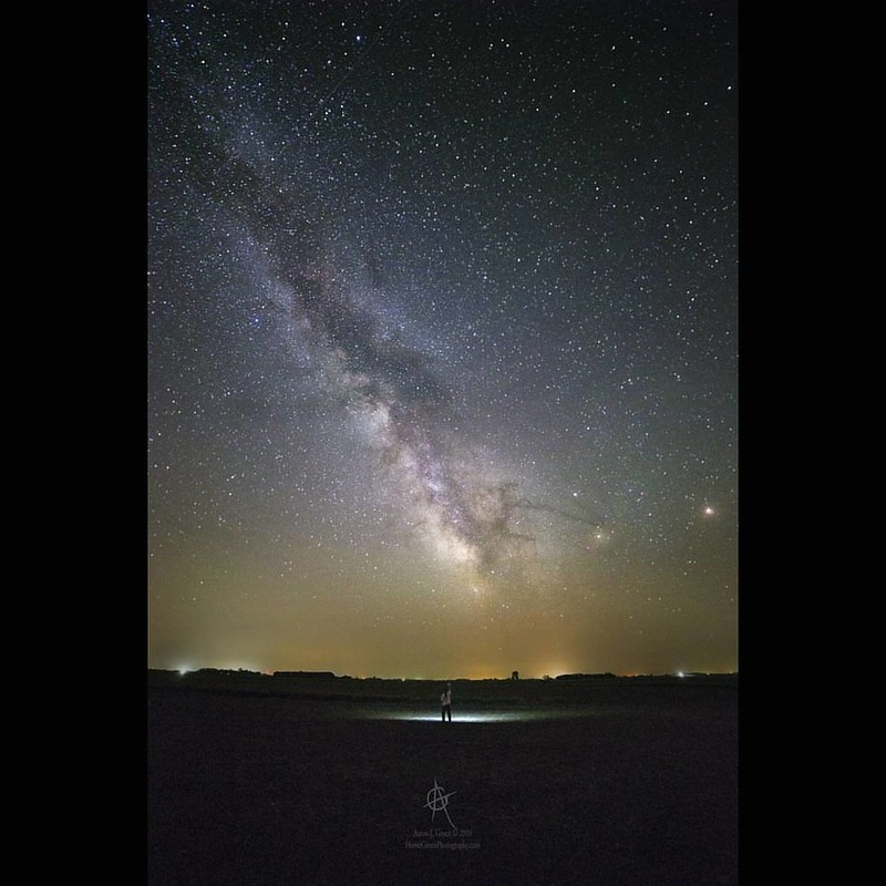 """The Truth Is Out There"" @HomeGroenPhotography   Taken south of Davis, South Dakota  June 10th 2016 2:10 AM Canon EOS 6D  Rokinon 14mm f2.8 @ 36s 6400iso  #milkywaygalaxy #galacticcenter #greatrift #HiFromSD #nightscaper #universe #cosmos #TeamCanon #itsa"