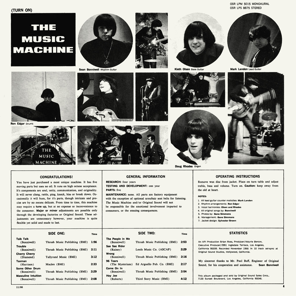 The Music Machine - Turn On The Music Machine