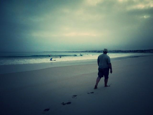 Dejando pisadas en la playa
