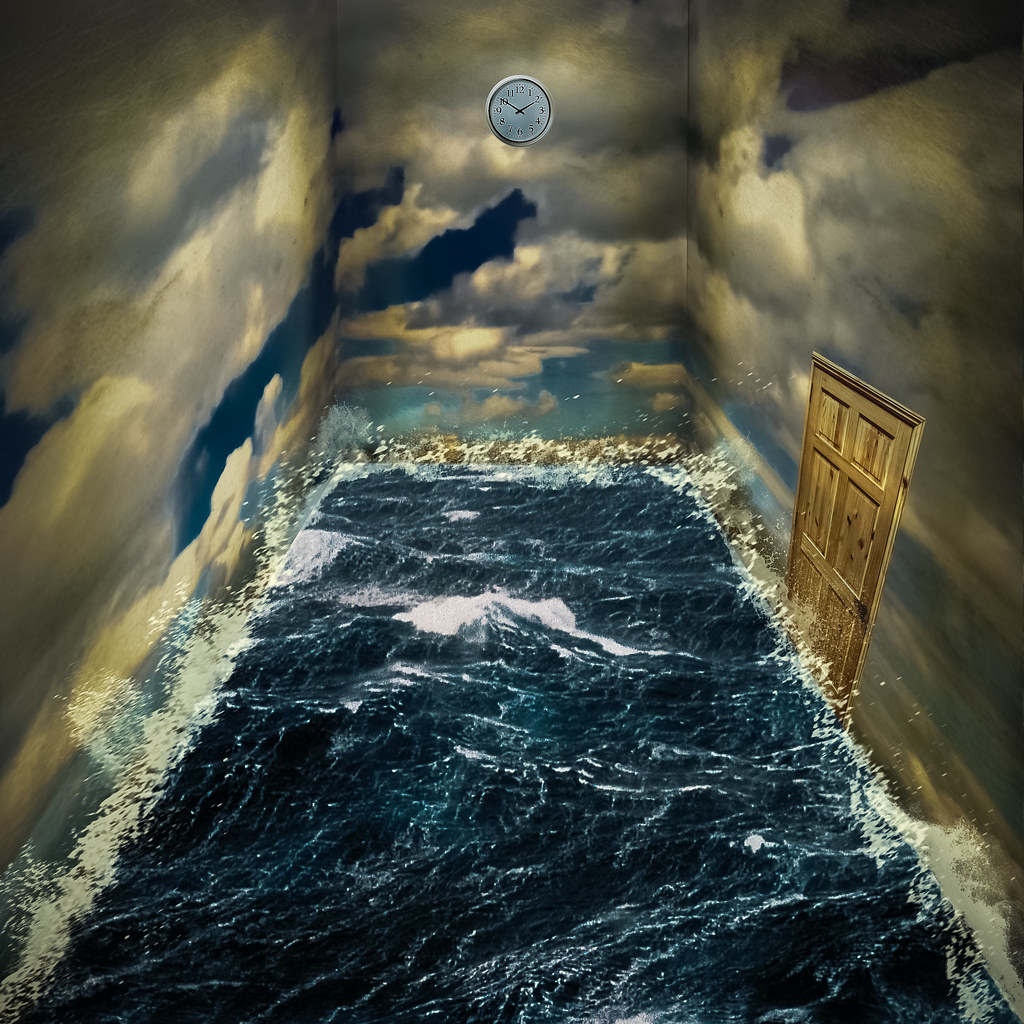 How To Unlock A Door >> Surreal Room | Stuck in a room of sea, with walls of sky ...