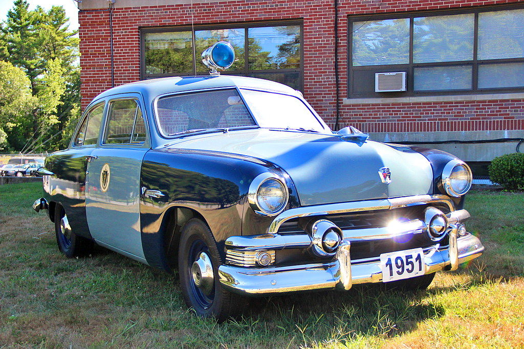 1951 ford massachusetts state police cruiser taken in. Black Bedroom Furniture Sets. Home Design Ideas