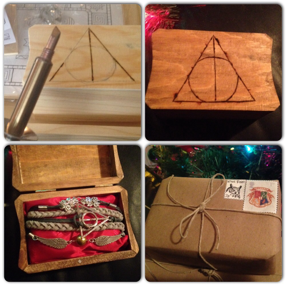Harry potter gift i made this harry potter jewelry box for Harry potter christmas present ideas