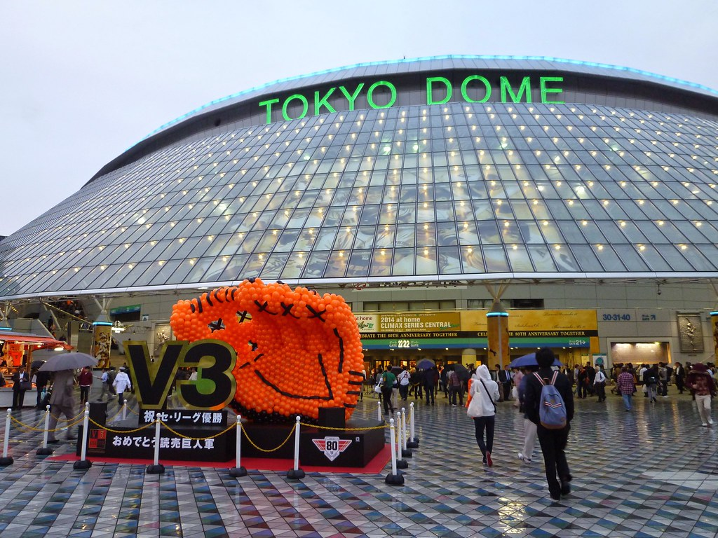 東京巨蛋外。(資料照,李升愷/攝)