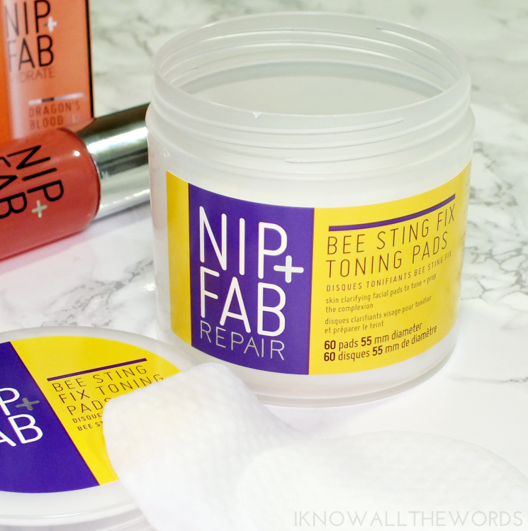 nip +fab bee sting toning pads dragon's blood hyaluronic shot (1)