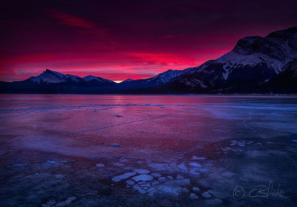 Abraham Lake Sunrise |...