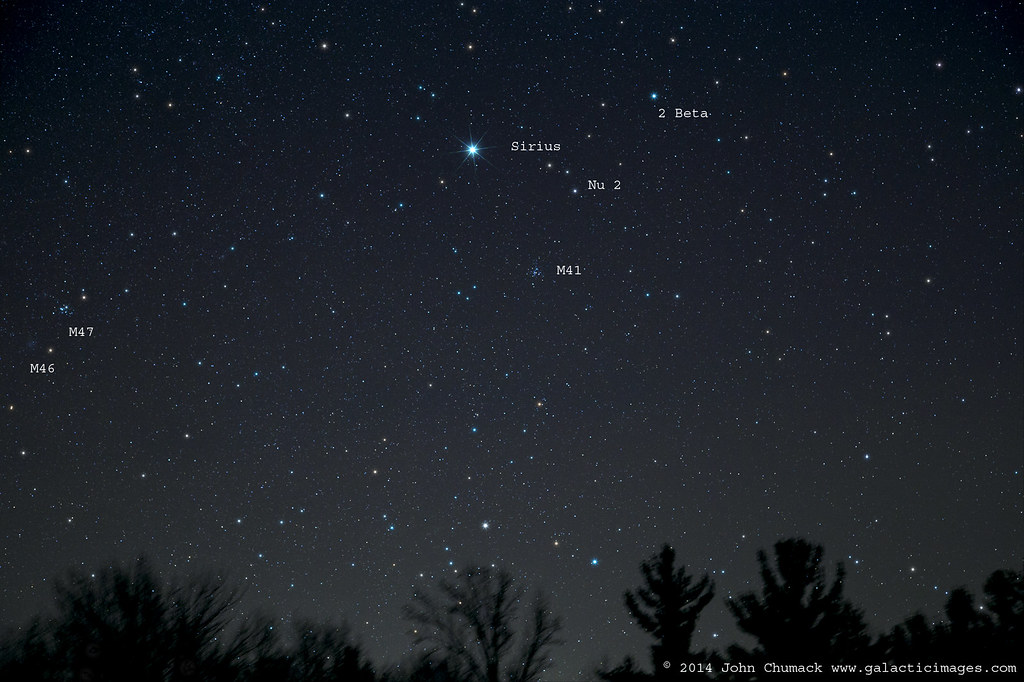 sirius the dog star amp m41 open star cluster 0n 12252014