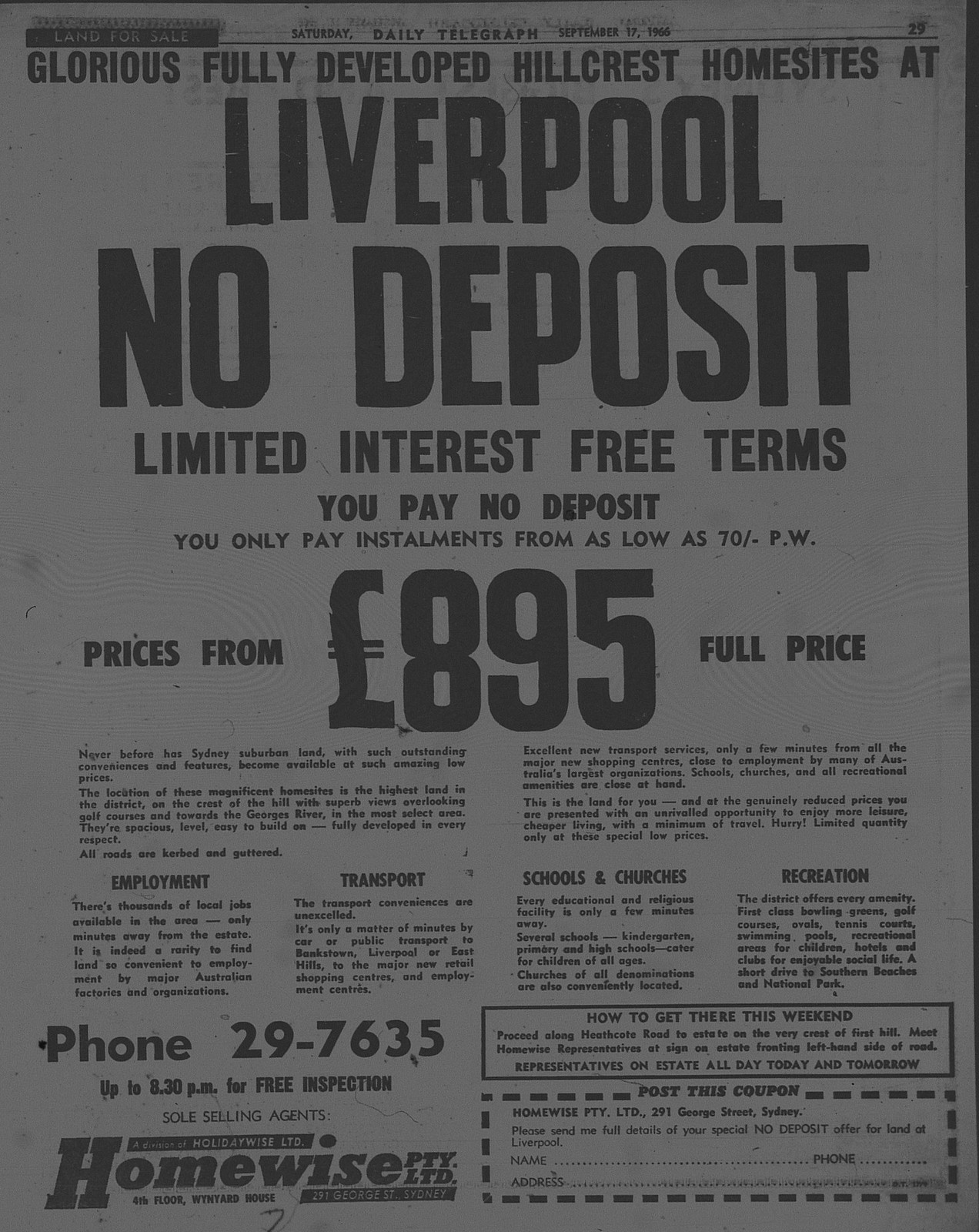 Liverpool housing ad September 17 1966 daily telegraph