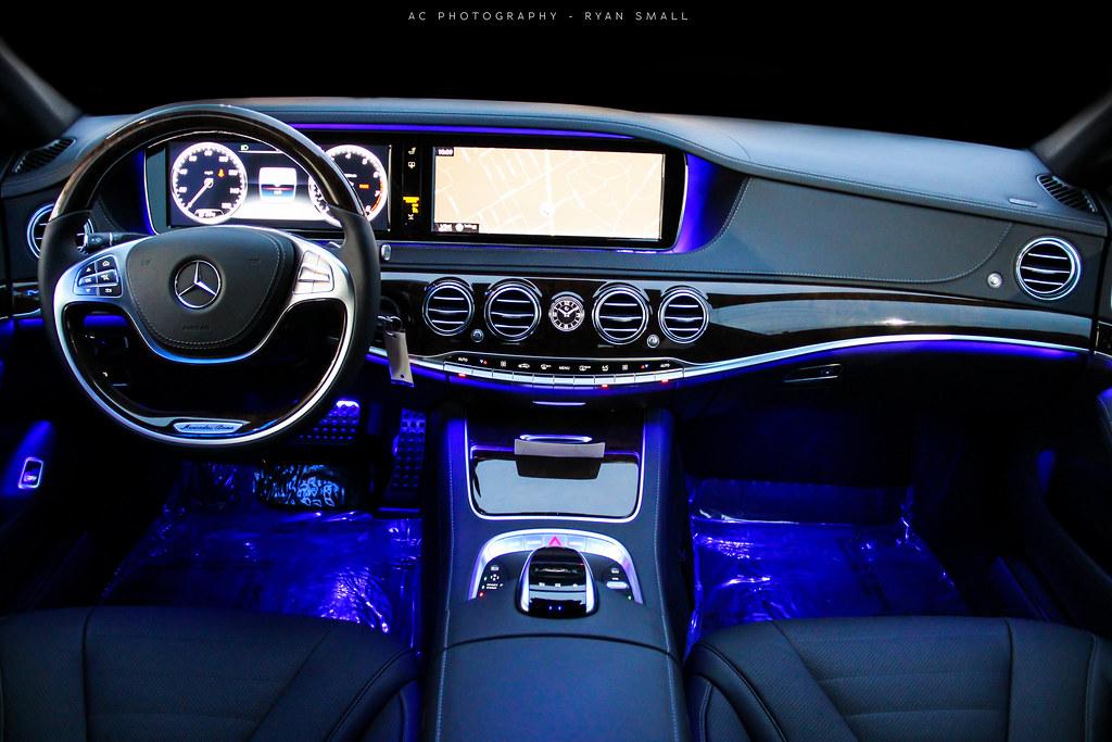 Mercedes s class white interior