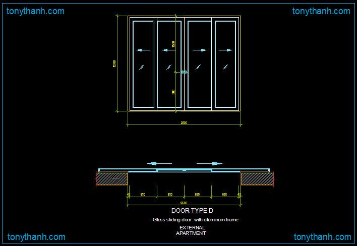 Aluminio Puerta Corredera Detalle Dwg Bloque Dwg De Alu