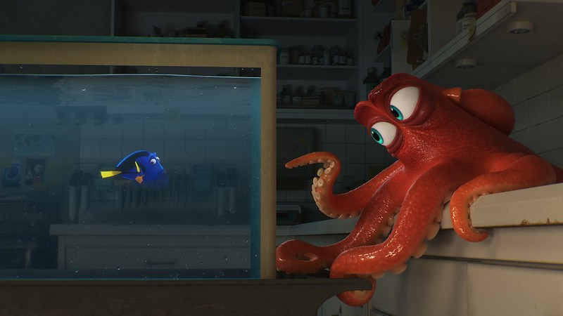 Ellen DeGeneres and Ed O'Neill up the antics in FINDING DORY.