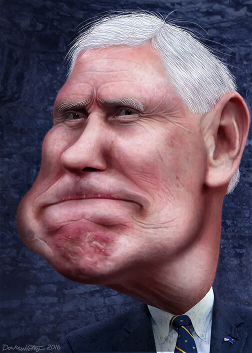 Mike Pence - Caricature