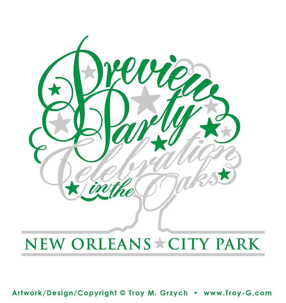 City Park Preview Party Logo Logo Design For New Orleans