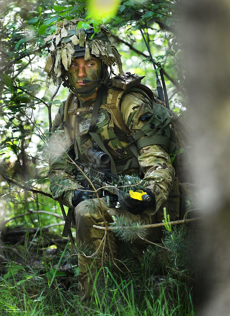 Soldier Wearing Camouflage On Patrol A Soldier From 1st