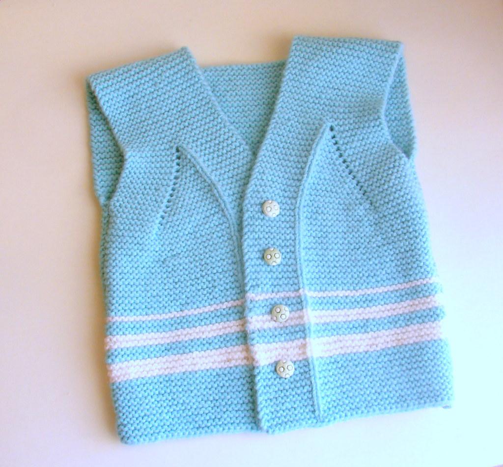7f967c4dae7d40 ... Garter Stitch Baby Vest