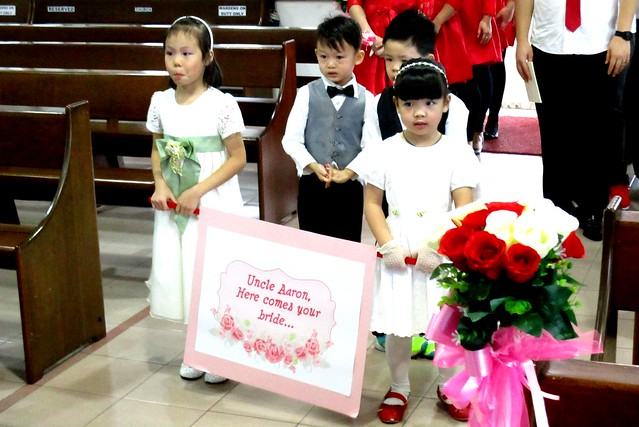 Aaron & Ling Hie's wedding - flower girls & page boys