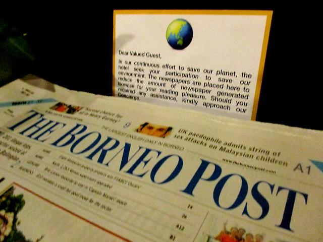 Complimentary newspaper