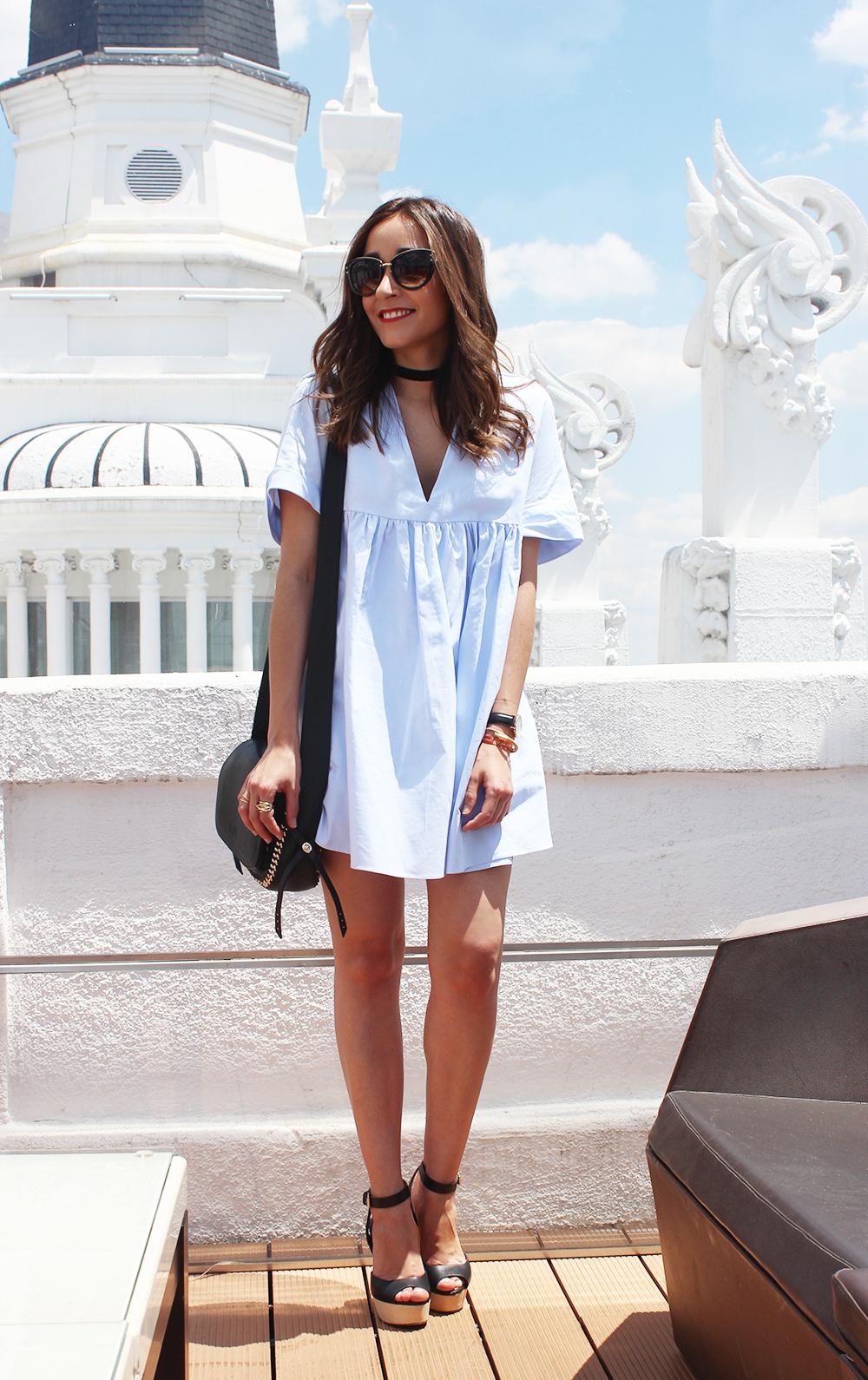 Light Blue Jumpsuit black sandals coach bag aristocrazy accesorries summer outfit07
