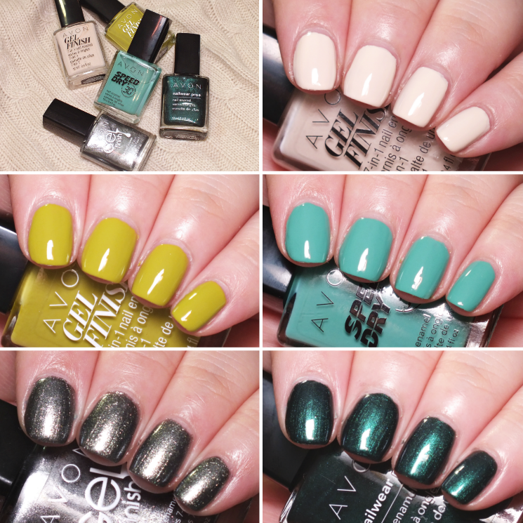 avon does autumn nail collage
