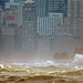 Chicago gale. With telephoto lense. 10/31/14