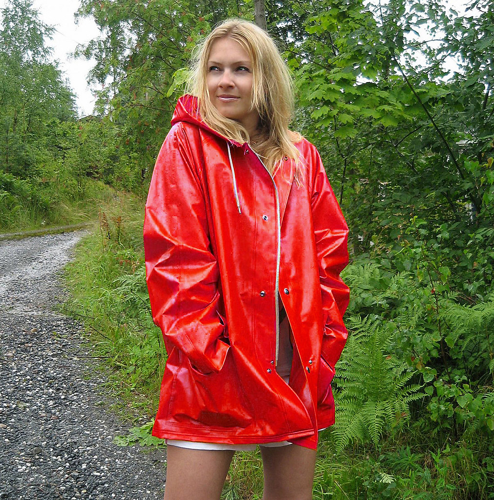jacket in red