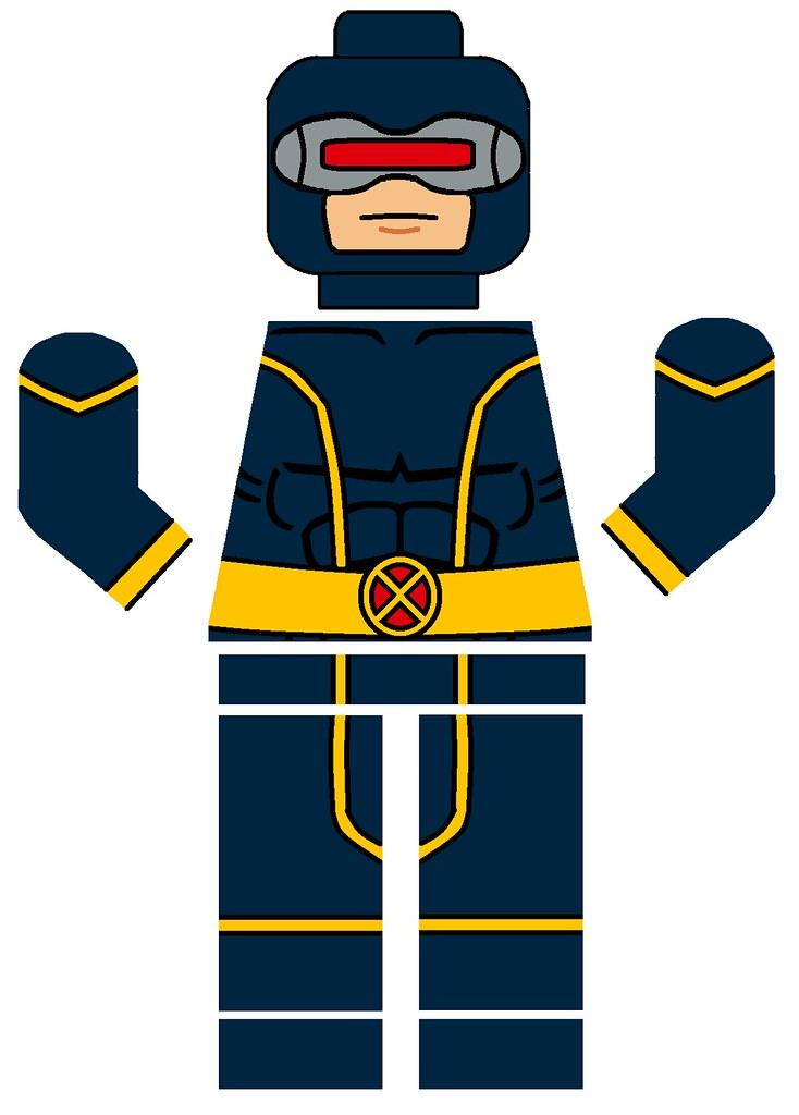 lego cyclops decal based on lego marvel game cyclops i