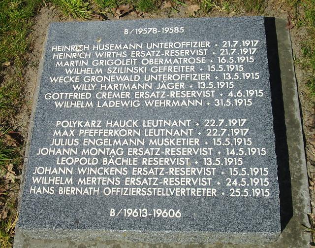 Langemark War Cemetery, Named Grave