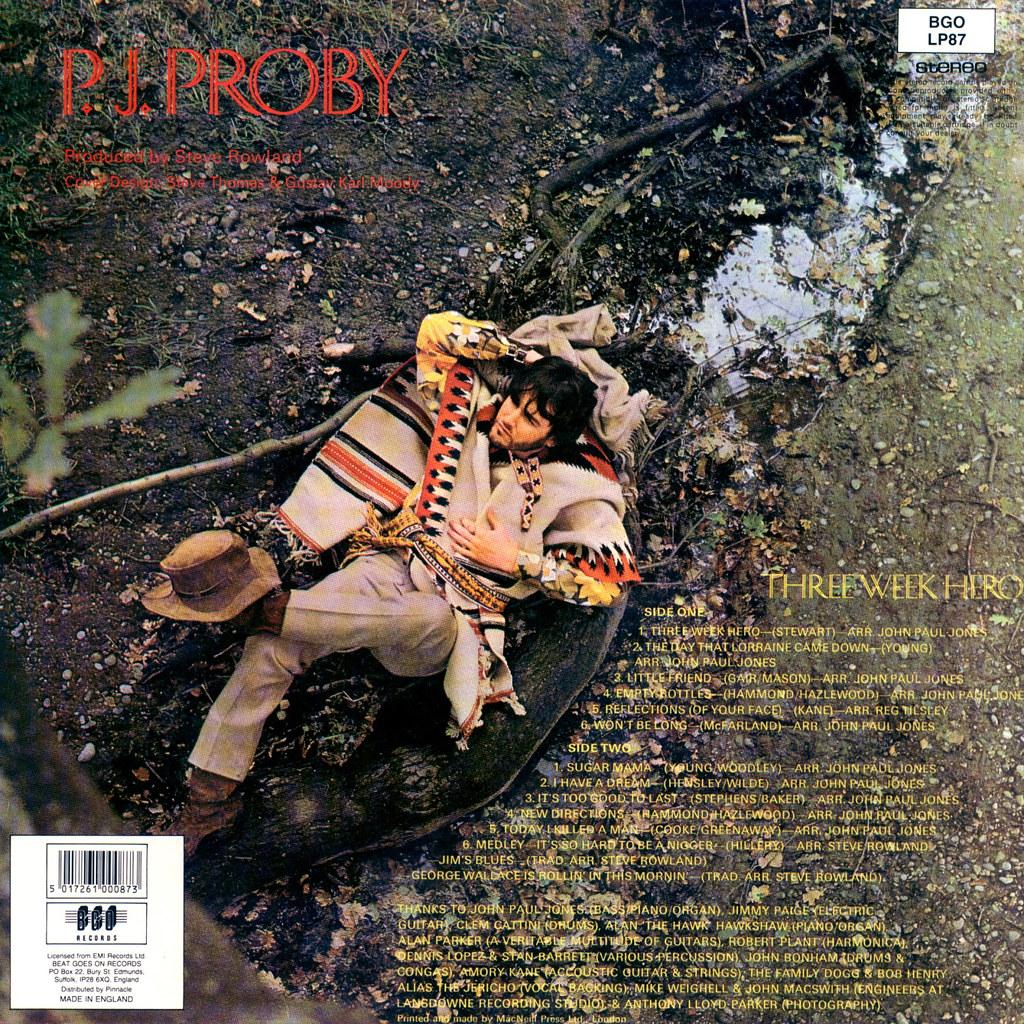 P.J. Proby - Three Week Hero