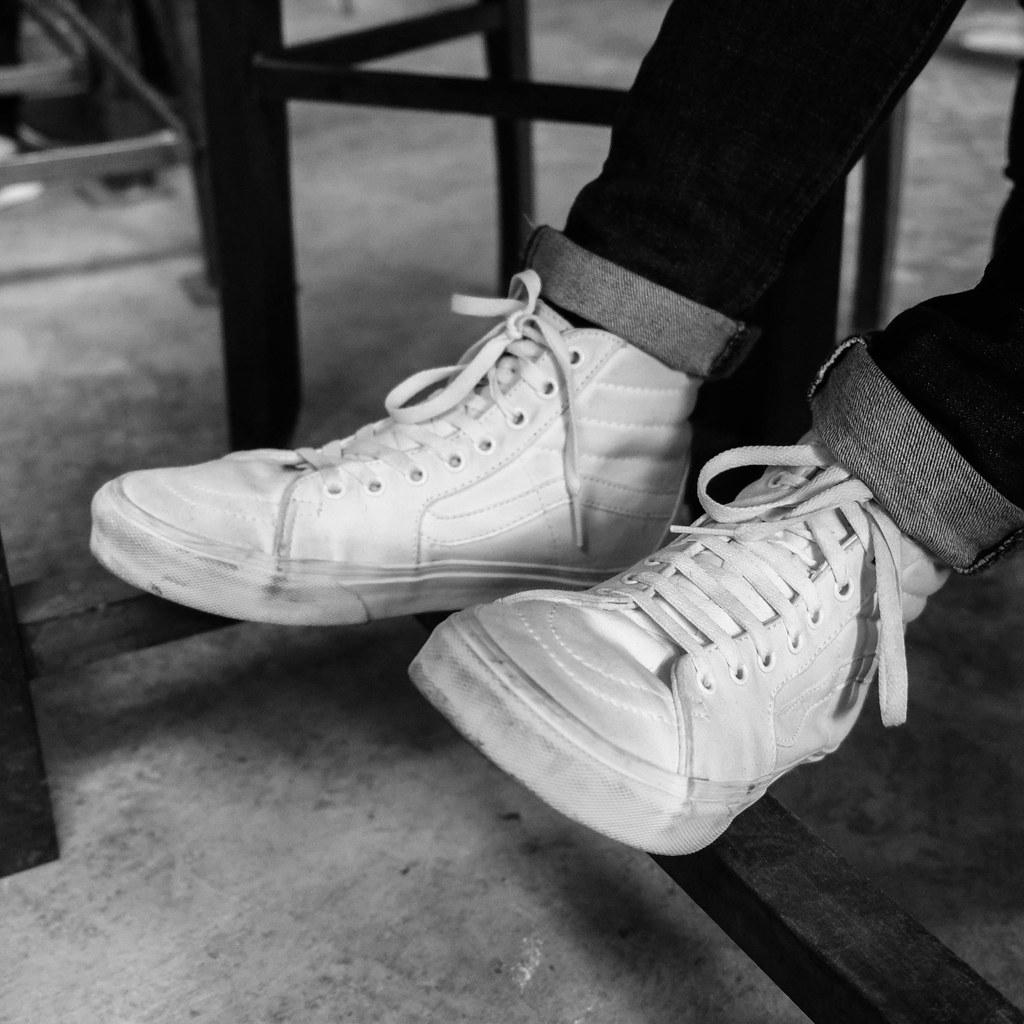Vans High Tops White On Feet