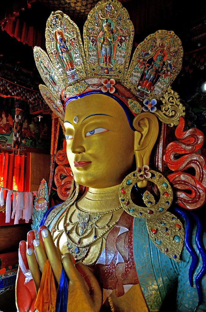 Maitreya Buddha Thiksay Monastery Leh Ladakh India