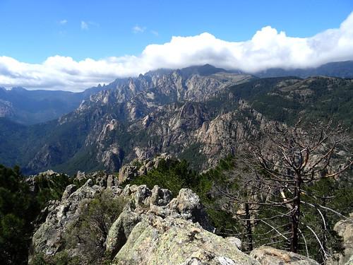 Le massif de Bavedda depuis le sommet 2 de Punta Mozza