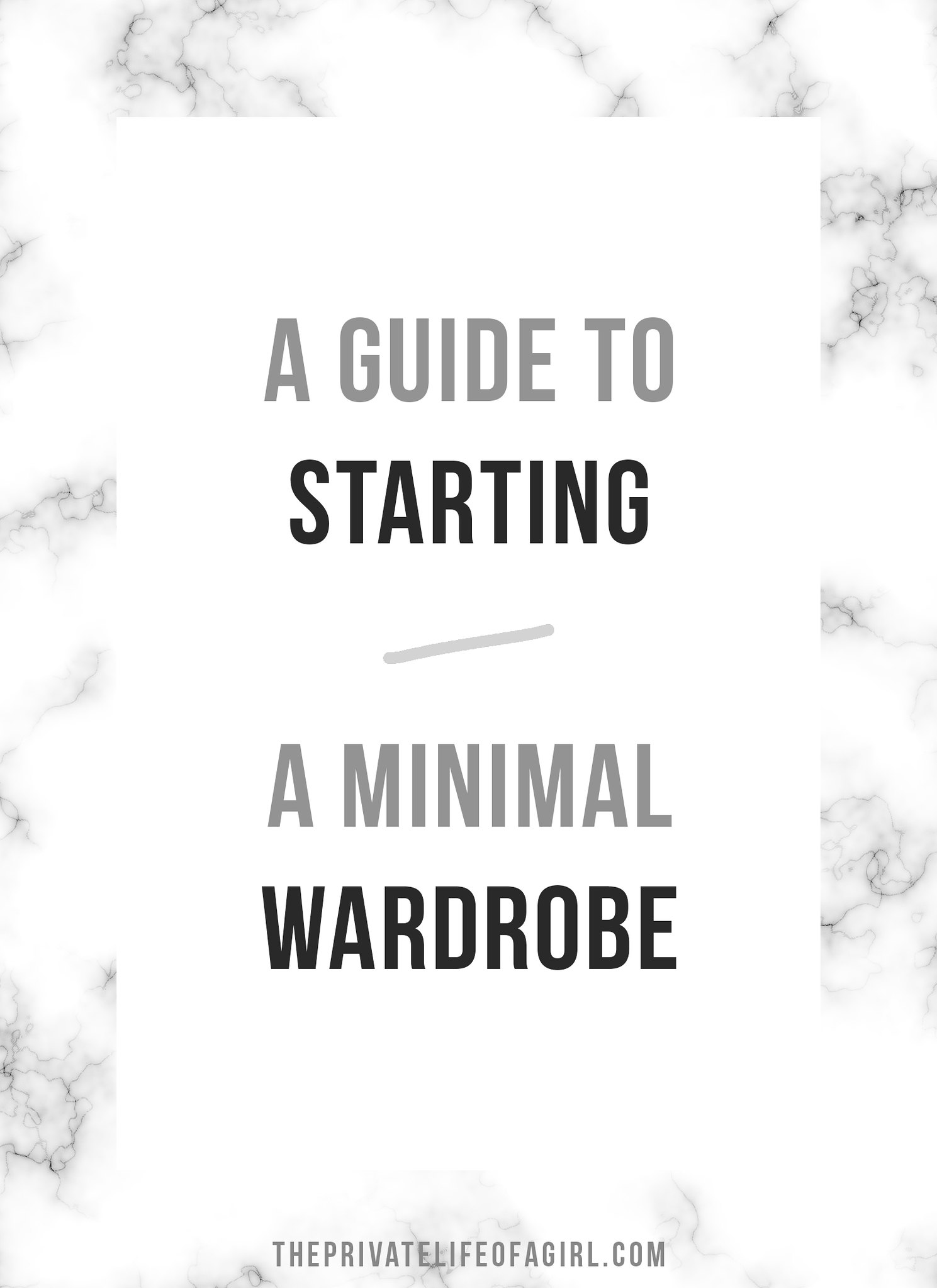 A Guide To Starting A Minimal Wardrobe