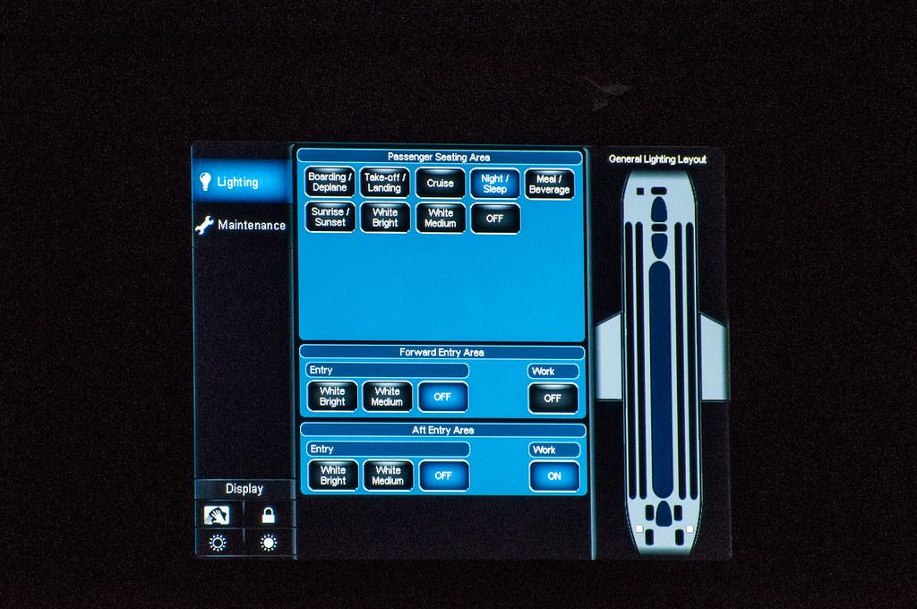 Boeing Sky Interior Control Screen Touchscreen