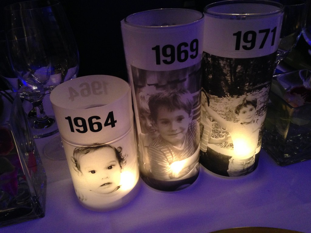 50th birthday bash custom candle centerpieces 1 classic for Table decoration 50th birthday
